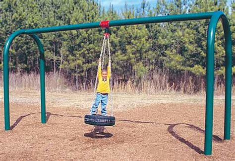tire swings for swing sets arch post tire swing sets playground equipment usa