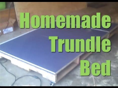 how to build a trundle bed homemade trundle bed made from pallets diy youtube