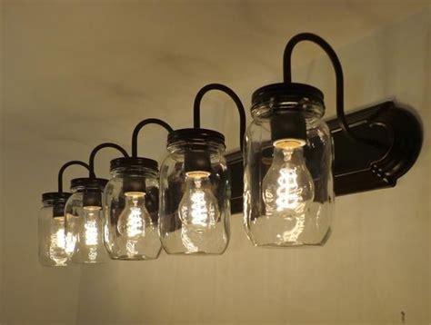 jar bathroom light best 25 bathroom light fixtures ideas on
