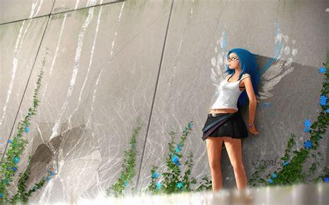 girl themes wallpaper anime girl windows 10 theme themepack me