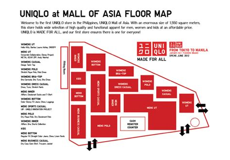 sm mall of asia floor plan uniqlo philippines at the sm mall of asia the experience