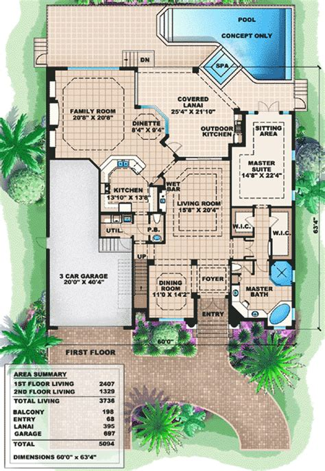 two story mediterranean house plans two story mediterranean house plan 66237we 1st floor master suite cad available