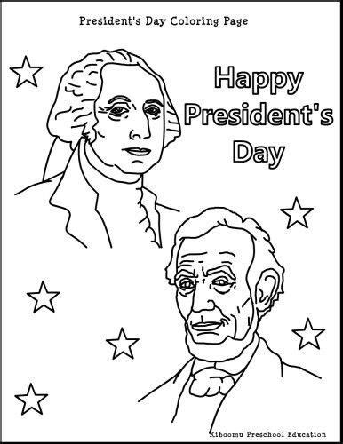 presidents day coloring page fun crafts pinterest