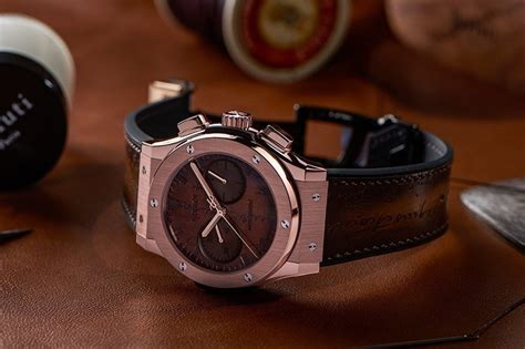 Hublot Senna Black Brown Leather check out the sleek hublot x berluti classic fusion