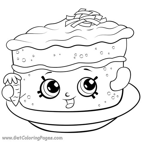 Cherry Pie Coloring Pages Shopkins Season 6 Coloring Pages