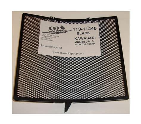Kawasaki Zx636 Zx6r Rg Radiator Guard cox racing radiator guard kawasaki zx6r zx636 2007 2016 revzilla