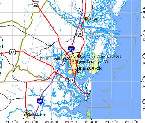 Glynn County Ga Property Records Glynco Map