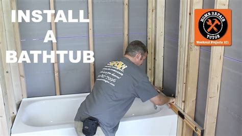 how to instal a bathtub install a leak free bathtub in one day home repair tutor