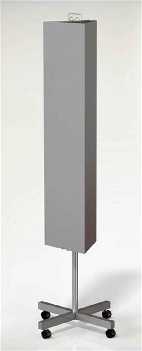 3 sided magnet floor standing display stand stands for
