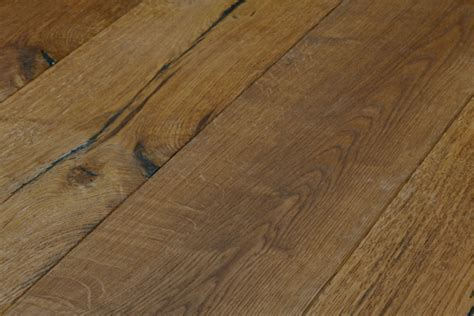 rustic hand crafted natural oiled oak wide plank floors