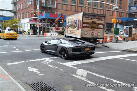 lamborghini aventador spotted in new york new york on 11