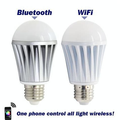 wifi controlled led light bulb new wifi bluetooth controlled led color smart light bulb
