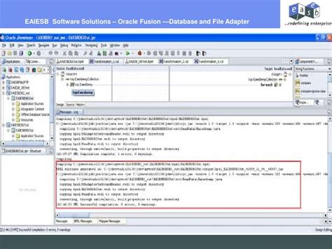 tutorial oracle soa eaiesb oracle fusion soa tutorial database to file adapter