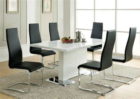 White Modern Dining Room Chairs Modern Dining Table White Co310 Modern Dining