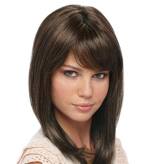 hairstyles with bangs on round faces collar length layered hairstyles short hairstyle 2013