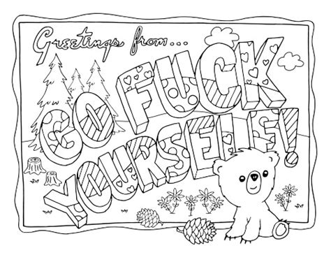 printable coloring pages swear words swear word adult coloring pages coloring projects to try