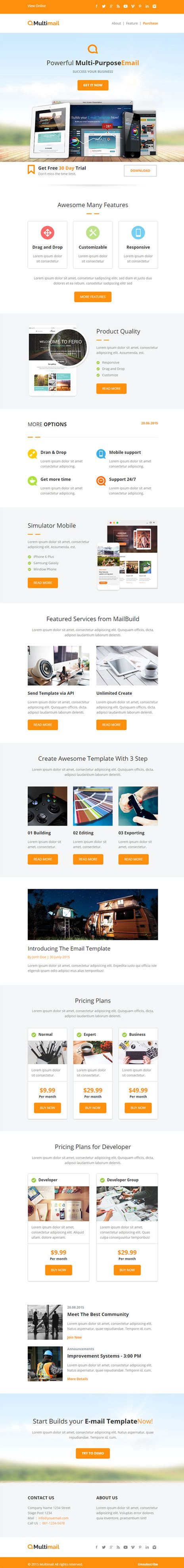 html5 email template html5 responsive email template 28 images html5
