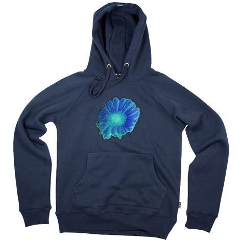 Hoodie White Flower blue flower hoodie
