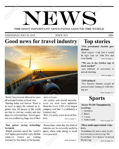 9 Newspaper Templates Word Excel Pdf Formats Microsoft Newspaper Template
