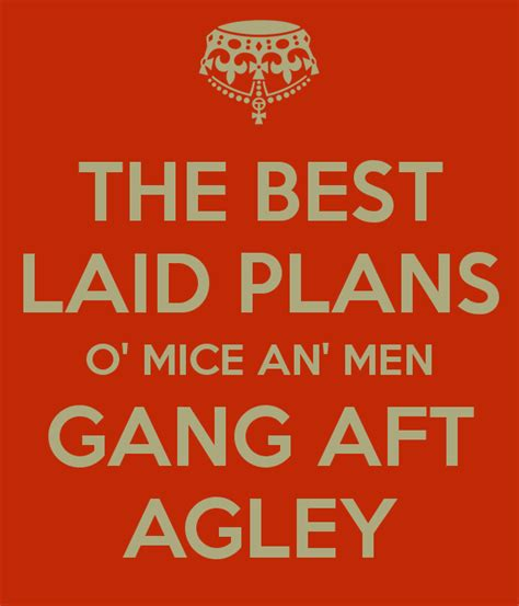 The Best Laid Plans by The Best Laid Plans Of Mice And Often Go Awry
