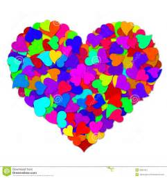 Colorful hearts forming big valentines day heart stock image image