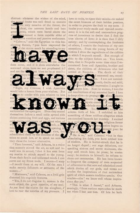 printable vintage quotes i have always known it was you print vintage art book