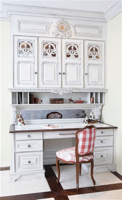 Houzz Kitchen Desk Ideas Built In Desk The Kitchen Traditional Home Office