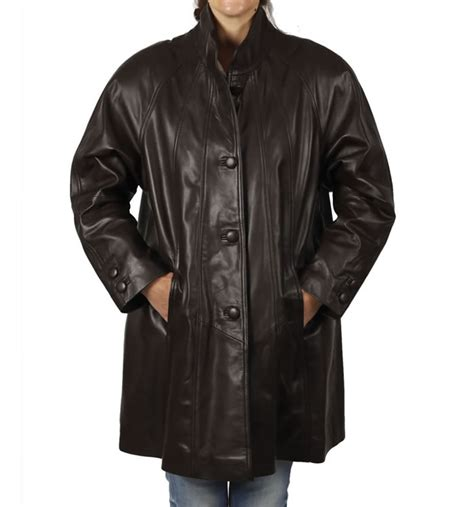 leather swing coat ladies 3 4 leather jackets and coats simons leather