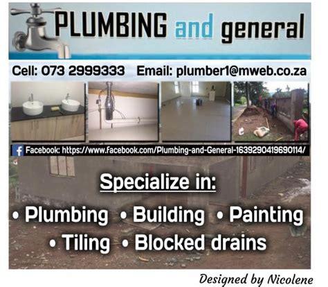 Plumbing Companies In South Africa by Plumbing And General Pietermaritzburg Contractors Directory