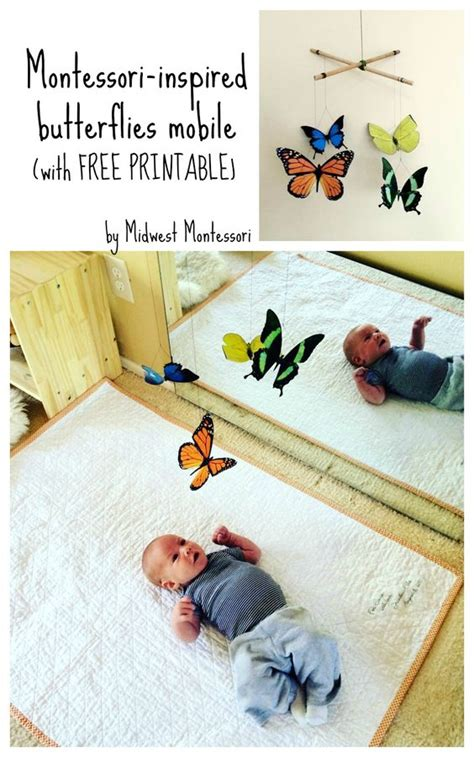 montessori mobile printable butterfly mobile with free printable kids things