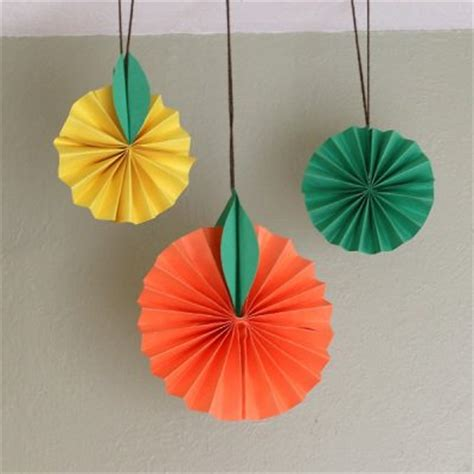 Paper Crafts - citrus fruit paper craft family crafts
