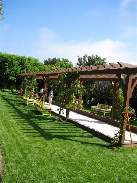backyard bocce court bocce court idea backyard escape pinterest