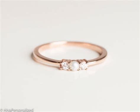 anniversary ring simple ring band thin gold ring