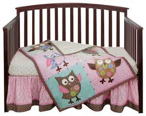 calico owls 3 crib bedding set by bananafish