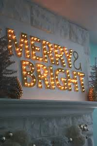 20 do it yourself christmas sign ideas lights for