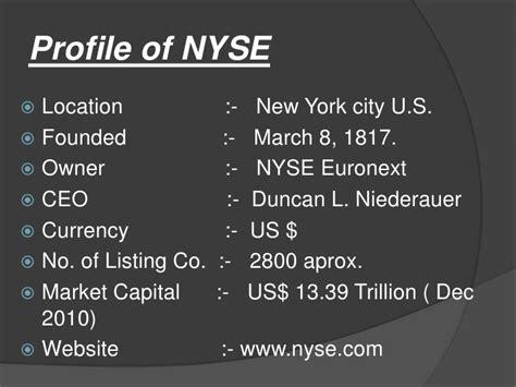 Nyu Mba Exchange Program by Presentation On New York Stock Exchange