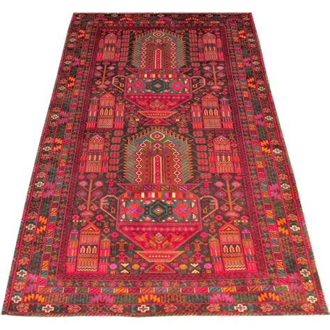 size 3 6 x 6 8 belouch wool rug from afghanistan