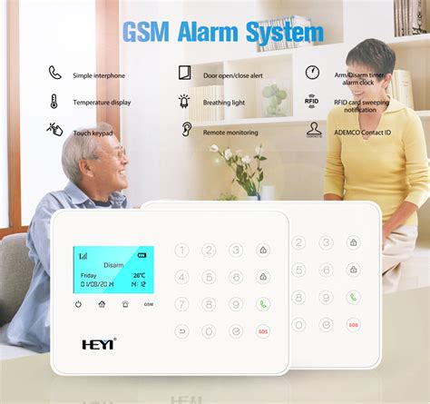 home security gsm self monitoring wireless alarm