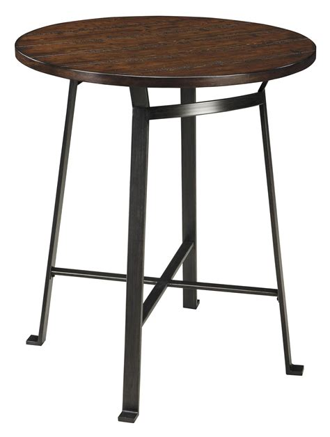 signature design challiman d307 12 industrial style dining room bar table dunk