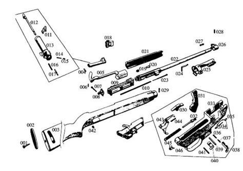 m1 carbine parts diagram m1 carbine schematic images