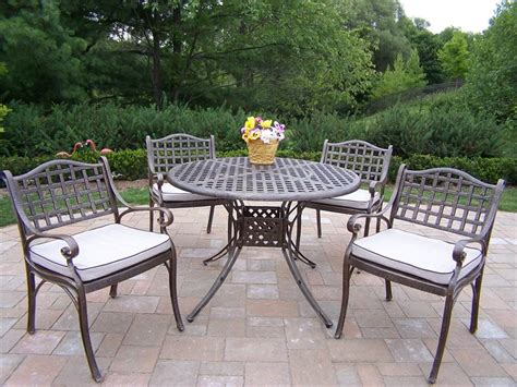 Outdoor Dining Sets Metal Metal Patio Set Newsonair Org