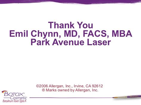 Asbell Md Facs Mba by Botox Presentation For Patients