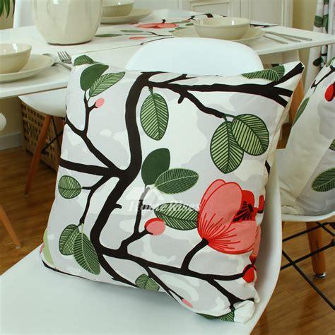 Pillow Box Floral Green Kotak Handuk Box Notes country floral cotton green cheap throw pillows leaf