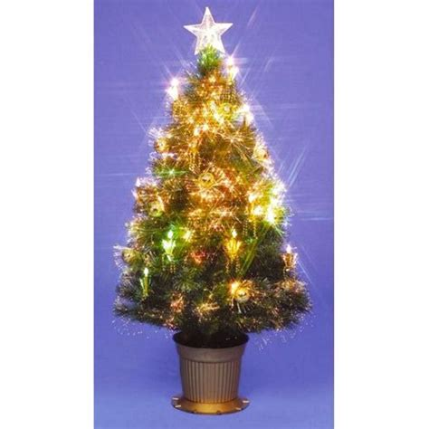 buy 6ft golden grace fibre optic christmas tree from our