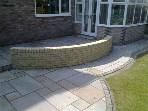 Patio Pavers Curved Edge Colin M Garden Landscaping And Fencing Offer