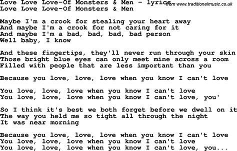 images of love lyrics love song lyrics for love love love of monsters men