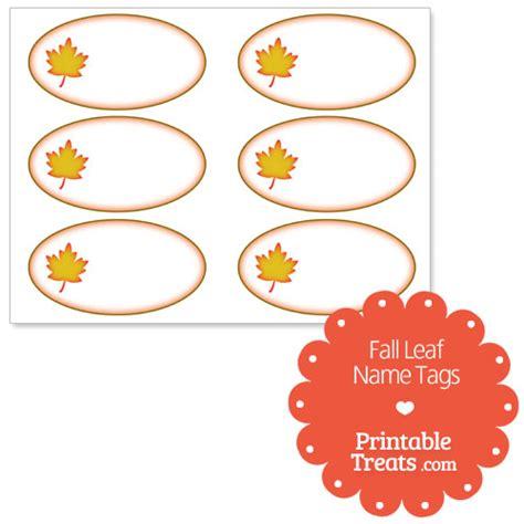 printable fall leaf tags fall leaf name tags printable treats com