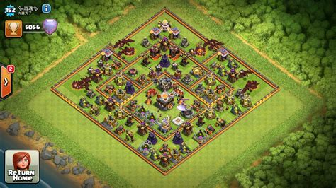 update layout in eagle clash of clans town hall 11 war base layout with full