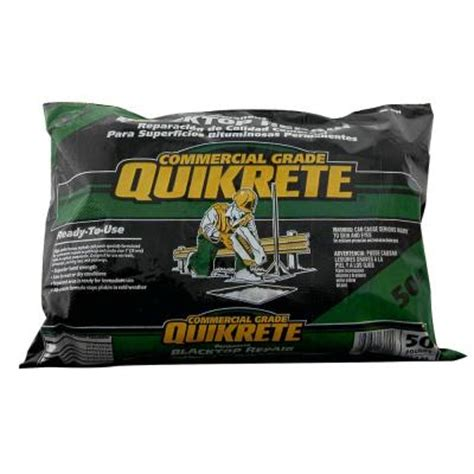 quikrete 50 lb commercial grade blacktop repair 170152