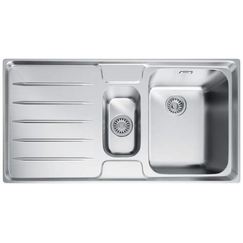 frank stainless steel sinks franke laser lsx 651 1 5 bowl stainless steel kitchen
